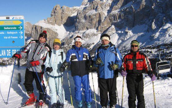 Discese con gli sci sulle Dolomiti
