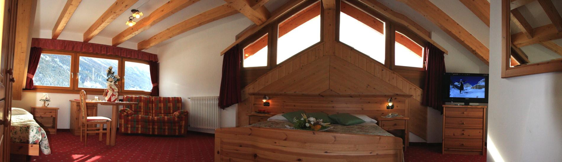 Camere con vista Panoramica sulle Dolomiti