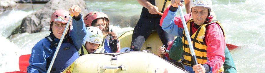 Rafting sulle Rapide del torrente Avisio