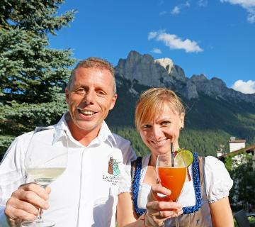 Maurizio e Pasa all'Hotel La Grotta