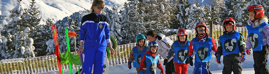 Scuola di sci per Bambini in Val di Fassa