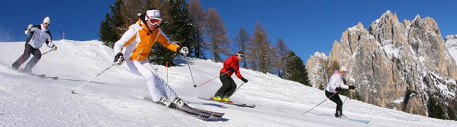 Discesa sulle piste del Trentino Alto Adige