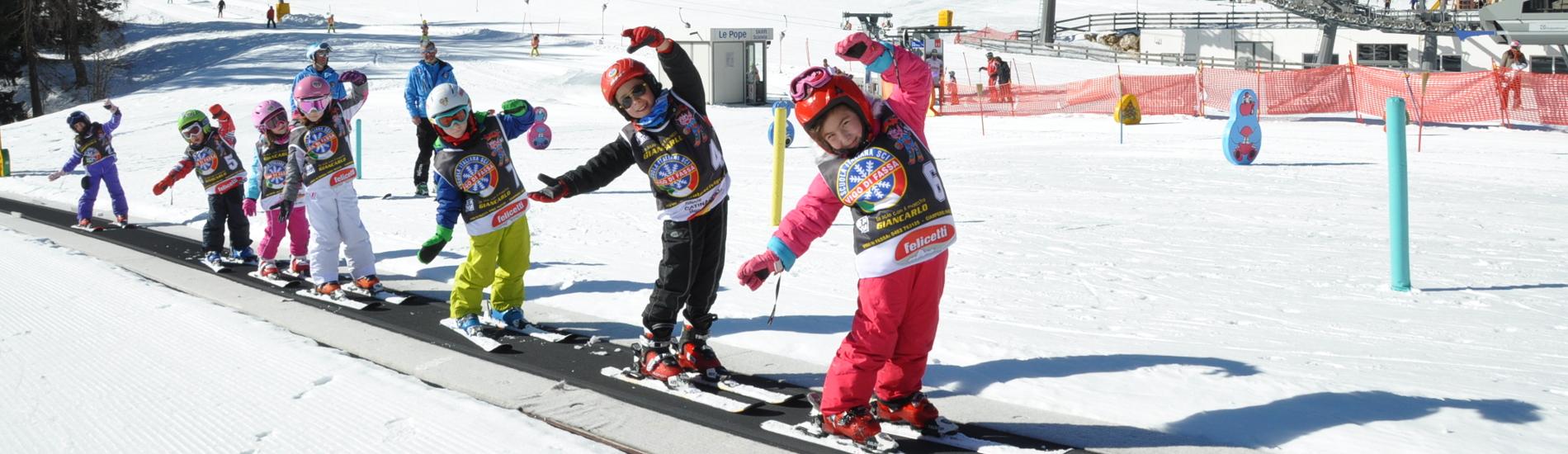 Scuola di sci per bambini in Trentino