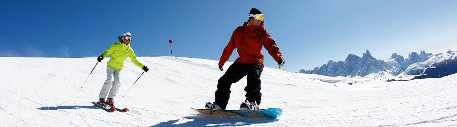 Snowboard sulle Dolomiti